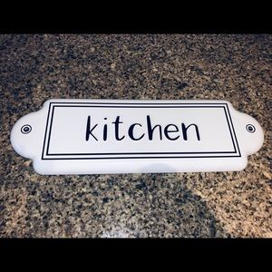 Metal Kitchen Sign Decor
